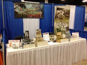 My booth at the Great Homeschool Convention in Greenville SC.