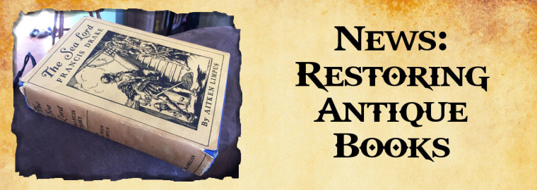 restoring antique books